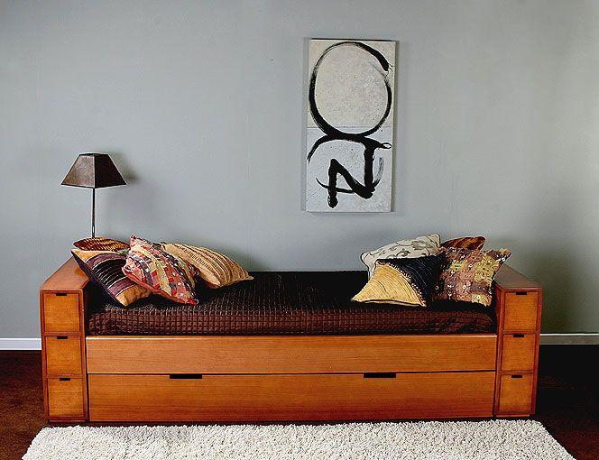 Muebles cama nido 6 cajones for Cama nido color madera