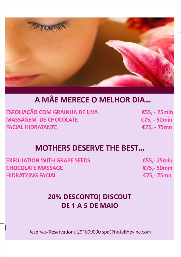 Mother's Day 2014  A special gift. Moments of pleasure at the spa.