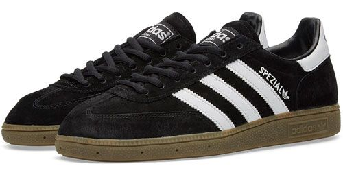 64bfb383239e 1970s Adidas Handball Spezial trainers reissued in black and white ...
