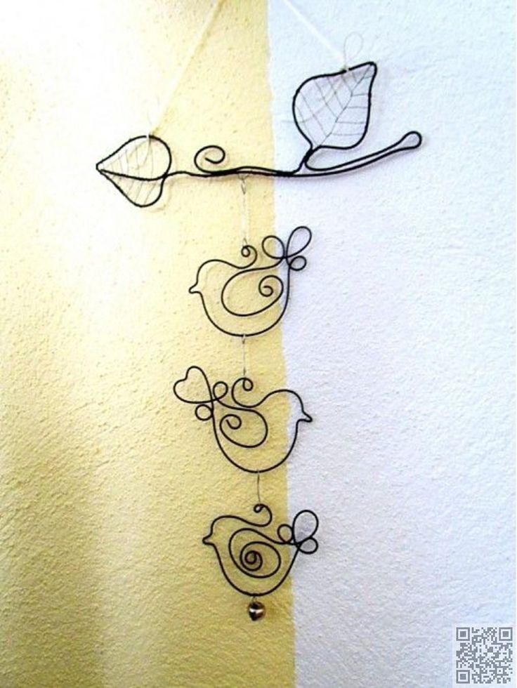 28. #pájaro arte - 33 artesanías #impresionante alambre para #hacer cosas interesantes... → DIY