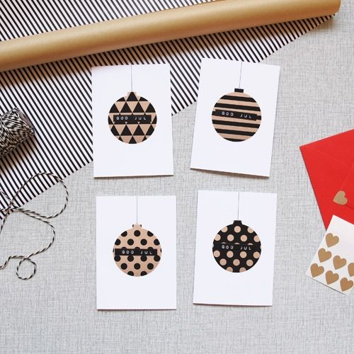 diy bauble cards