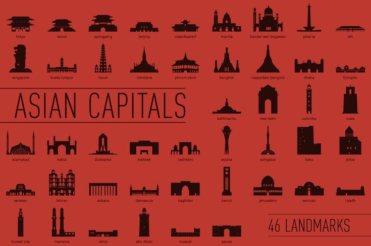 46 Asian Capital Landmarks on Behance