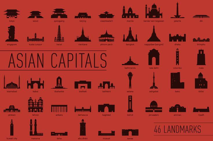 46 Asian Capital Landmarks on Behance