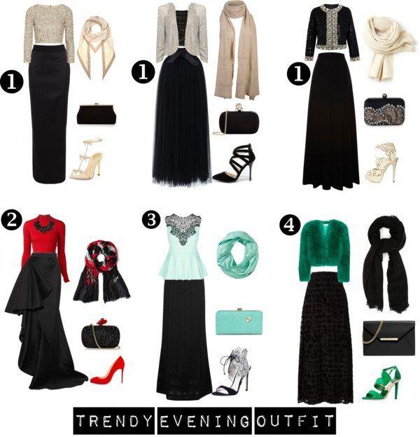TRENDY EVENING WEAR - HIJABI - boho chic hijab, college hijab styles, converse with black skirt, desi hijab style, diy hijab, flare top with modesty, hijaab, Hijab, hijab fashion,