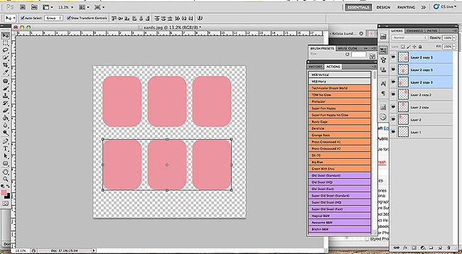 How to make your own journal cards in photoshop