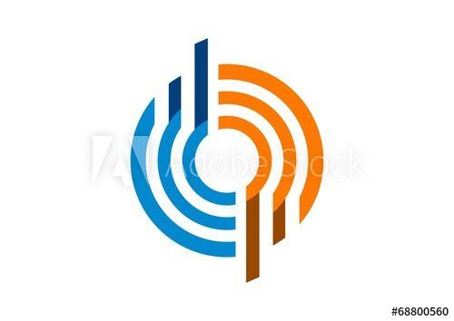 circle, logo, stripe, communication, sphere, globe, connection
