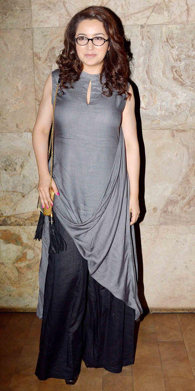Tisca Chopra at 'Dil Dhadakne Do' screening.