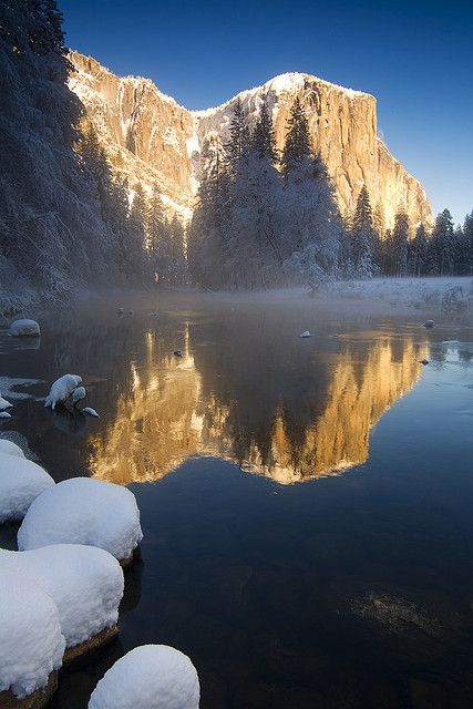 First snow inYosemite National Park, California