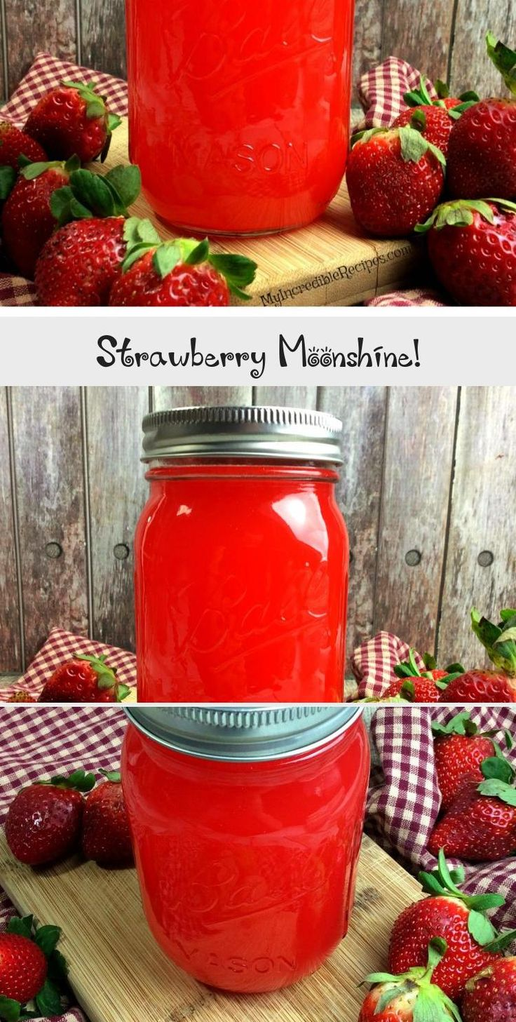 Strawberry Moonshine A Fun And Delicious Recipe Beveragecan Beveragebar Beveragenonalcoholic Beveragedrink B In 2020 Yummy Winter Recipes Strawberry Yummy Food