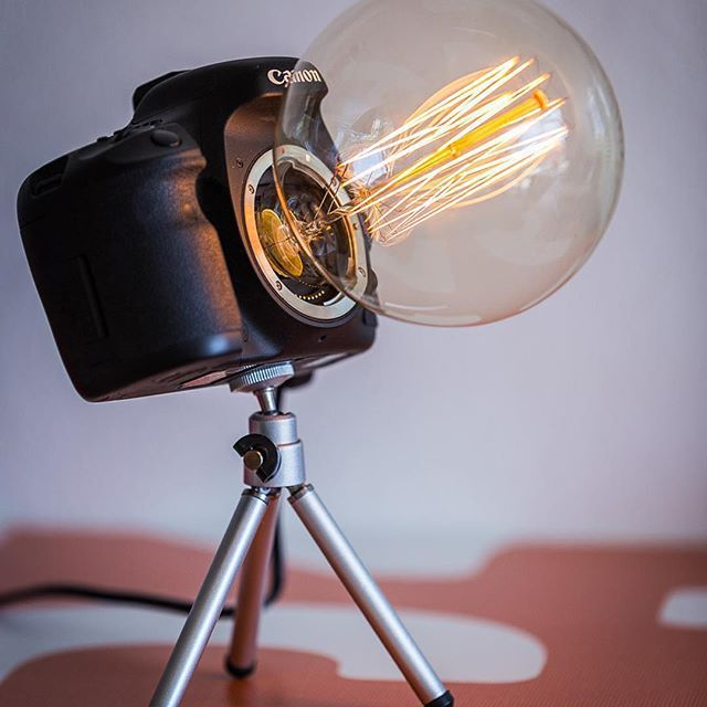 Check out what @timeflees did with an old #canon #7d #camera @timeflees: I wasn't using my old 7D much anymore, and I also needed a table lamp... #cameragear #lamp #cameralove #artist #photographer #photography #project #share #creative #instacool #instagood #instalove #instagram #instalike #expensive #lighting #interesting