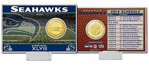 nice NFL Seattle Seahawks 2014 Schedule Bronze Coin Card