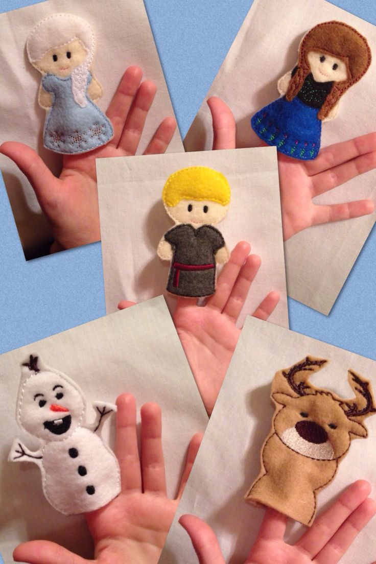 Cold princess finger puppets embroidered puppet, kids, children, toys, games, make believe, pretend play felt classic princesses, story time - pinned by pin4etsy.com