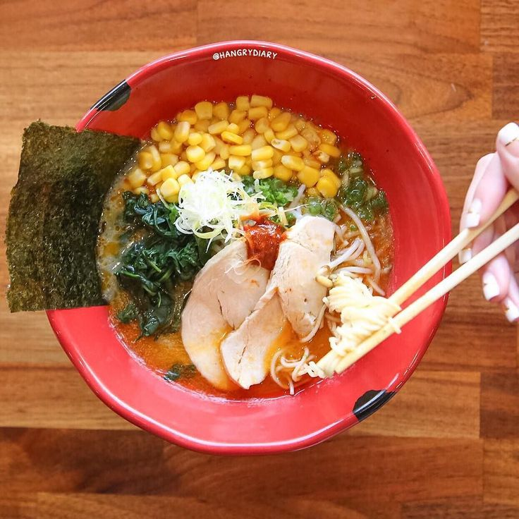 One fun fact of Ramen: Eating a bowl of ramen should not take more than 5 mins. Agree?| hangrydiarysavory @JinyaRamenBar 5168 Wilshire Bld Los Angeles CA 90036  Spicy Chicken Ramen 10.8   Join our food adventure on Snapchat: hangrydiary Tag the person who wants this