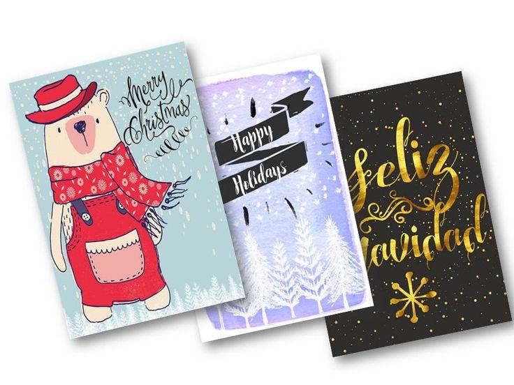 3 tarjetas navideñas para descargar free. |  THEBBT   Gratis | Imprimibles | Free | Latina | Español | Regalos