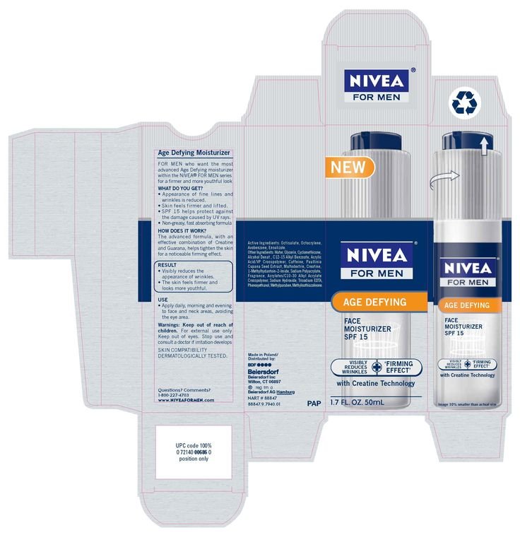 Nivea for men moisturizer
