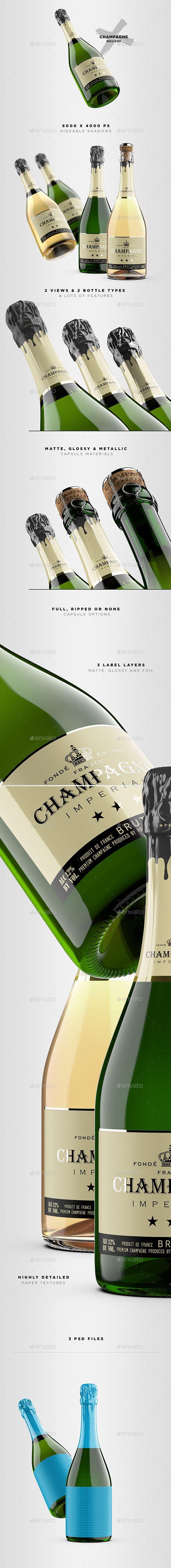 Download Champagne Bottle Mockup Bottle Mockup Champagne Bottle Sparkling Wine Label