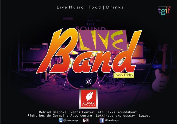 Live Band Fridays at Xovar Lounge...with God Bless and The Eboni Band from 10pm.