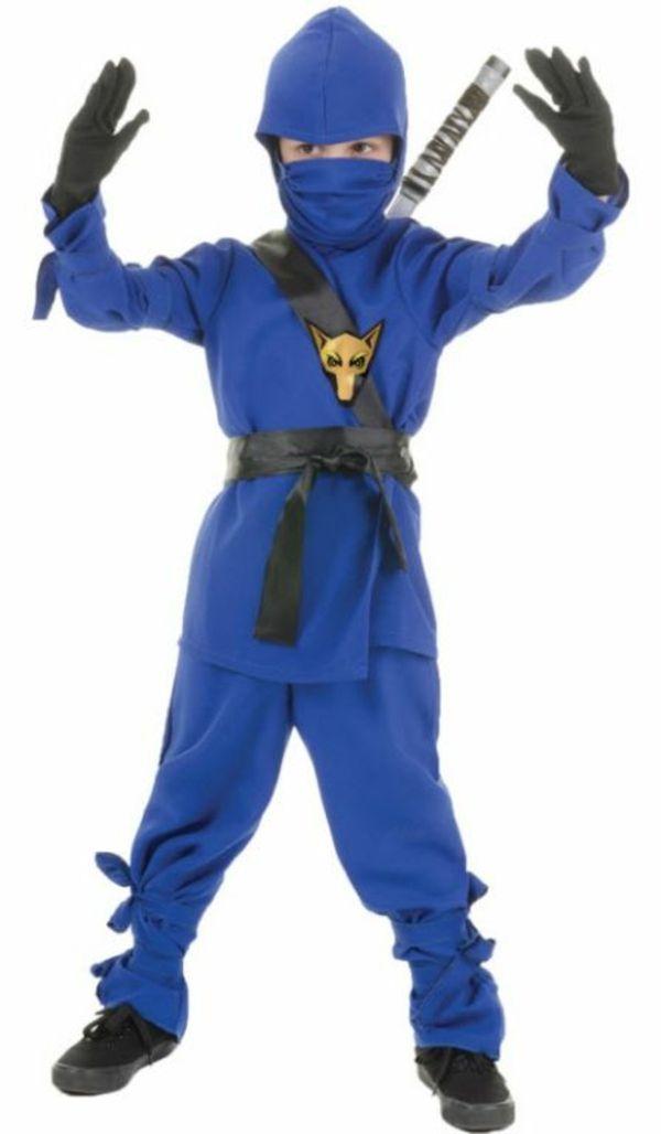 faschingskostüme ideen ninja blau junge