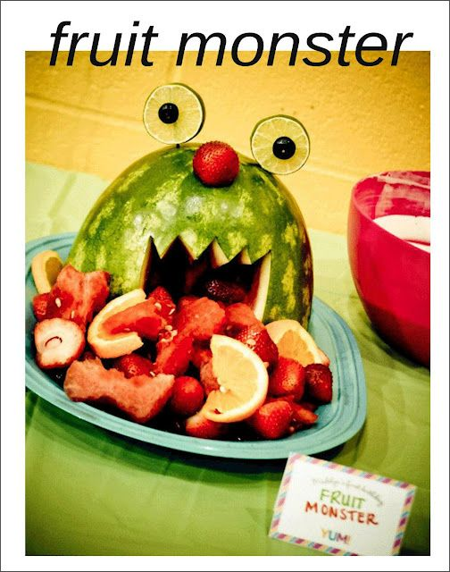 Cute Watermelon fruit monster (See the monster party)