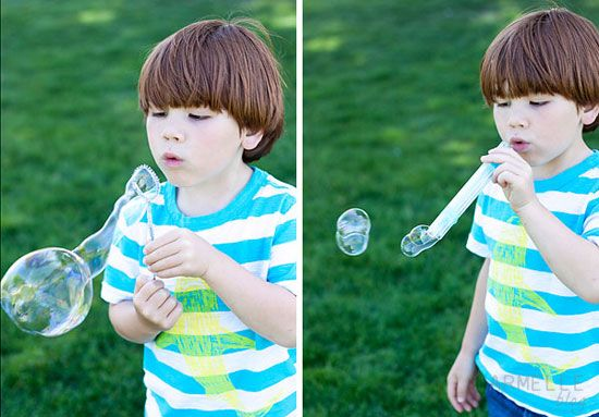 how to make homemade bubble blowers and wands // armelle blog