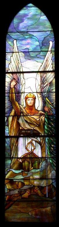 Archangel Michael/Tiffany's Warrior Angel series.N.Y. 1914