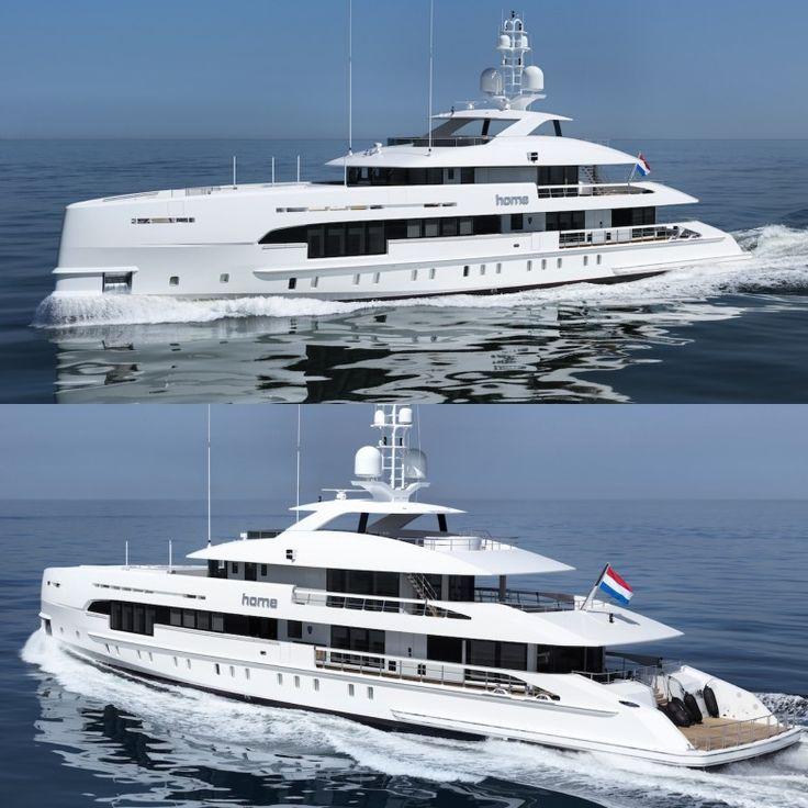 HOME Yacht – 50m Hybrid Luxury Motor Yacht by Heesen