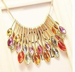 Multi Colour Jewelled Necklace