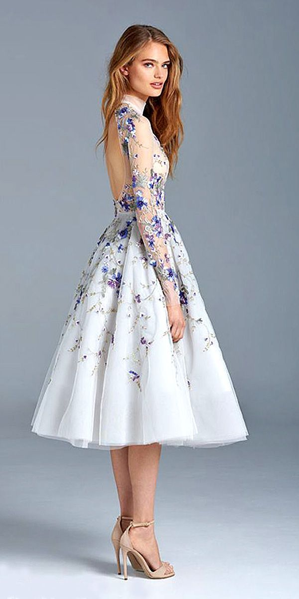 25 best ideas about floral wedding dresses on pinterest for How to dress for an evening wedding