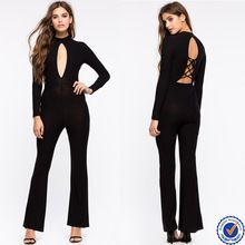 new design woman long sleeve bodysuits wholesale cut out front and sexy lace up back woman bodycon jumpsuits Best Buy follow this link http://shopingayo.space