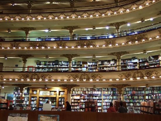 El Ateneo Grand Splendid    Situated in an old theater, El Ateneo is one of the most popular bookstores in Buenos Aires.