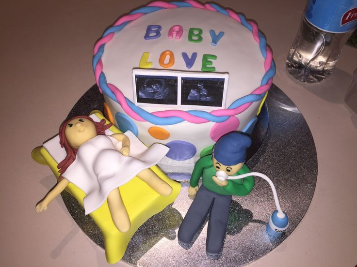 Baby Shower cake with toppers