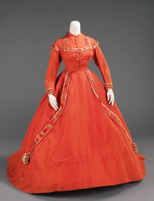 Afternoon dress ca. 1865 via The Costume Institute of the Metropolitan Museum of Art