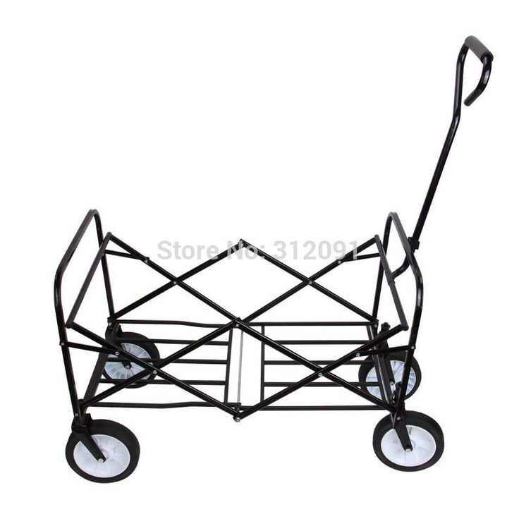 Foldable Garden Shopping Trolley Wagon Cart Truck 4 Wheel Pull Along Wheelbarrow Chariot de pliage Panier de wagon