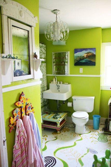 Idee per un bagno colorato Idee arredo bagno colorato-27 – DesignBuzz
