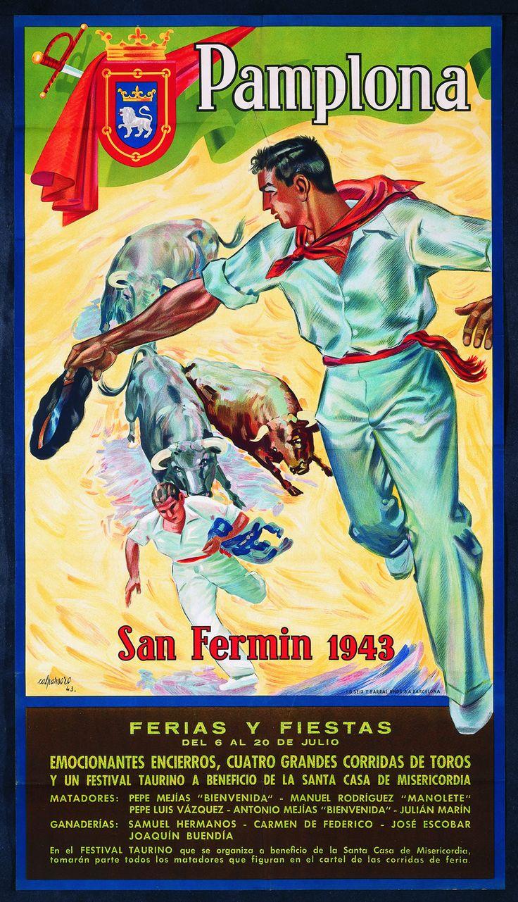 San Fermín 1943 José Caparroso