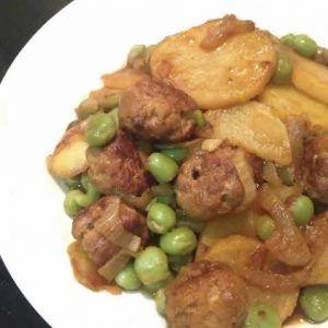 porc aux pommes de terre petits pois cookeo