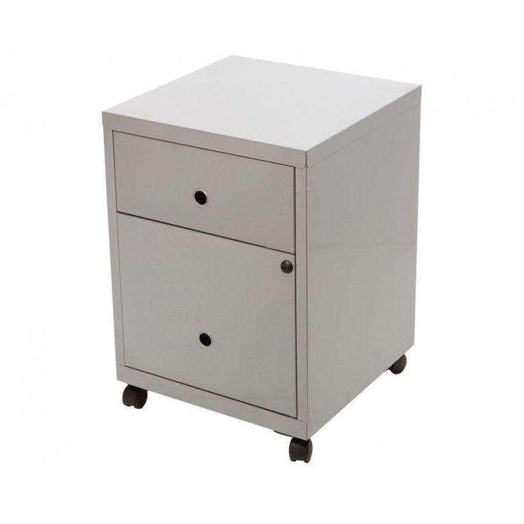Metal Filing Cabinet Mobile 2 Drawers Office Storage Locking Organizer Furniture