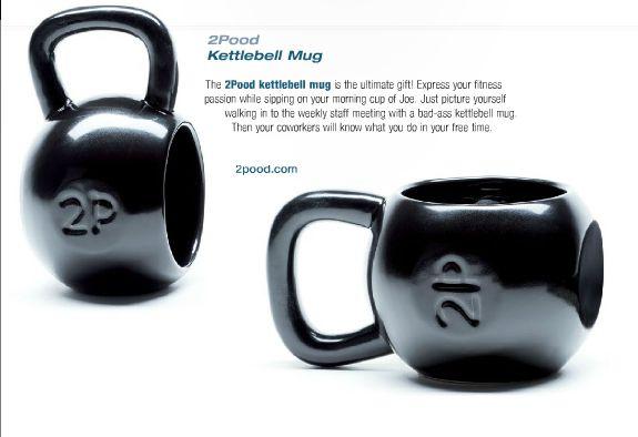 2POOD - 2P Kettlebell Mug Single Mug, $22.99 (http://www.2poodstore.com/2p-kettlebell-mug-single-mug/)