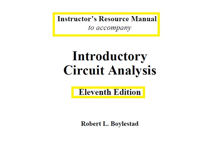 The 57 best ebooks images on pinterest pdf manual and reading introductory circuit analysis 11th edition by robert l boylestad fandeluxe Gallery
