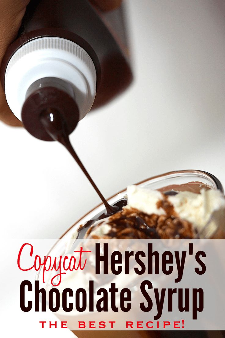 Copycat Homemade Hershey's chocolate syrup recipe! I made this and it tastes JUST LIKE the real thing.
