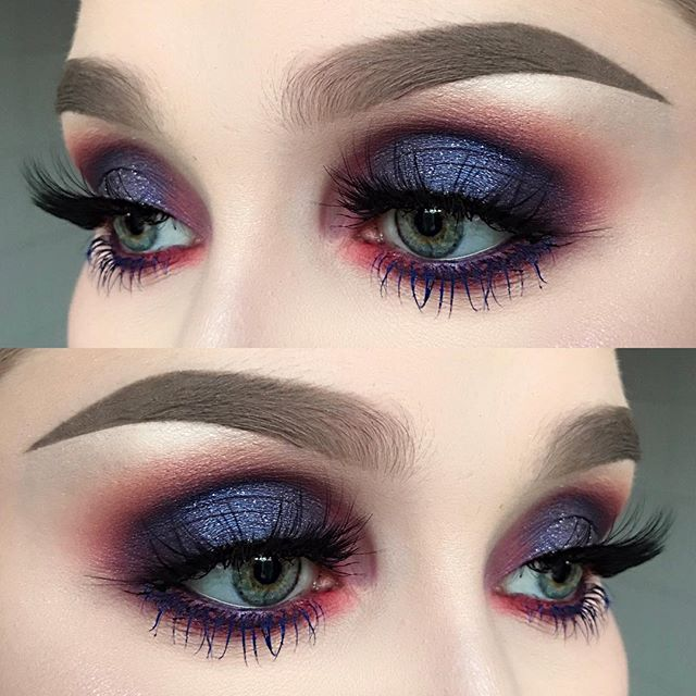 Dark winter skies Perfect for New Year's Eve ✨ I used @limecrimemakeup eyeshadows rebirth and muse from the Venus palette | @suvabeauty eyeshadows funny face and Bloody Mary from the cupcakes and monsters palette | @anastasiabeverlyhills eyeshadows star cobalt and teal shimmer, dipbrow pomade in taupe, brow powder in taupe and highlighters blue ice and star from the moonchild glow kit | @inglot_cosmetics body sparkles in XL73 and mascara in blue | @flutterlashesinc in provocative ✨✨ #fie...