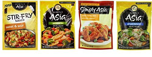 Simply Asia Stir Fry Sauce 4 Flavor Variety Bundle: (1) Sweet