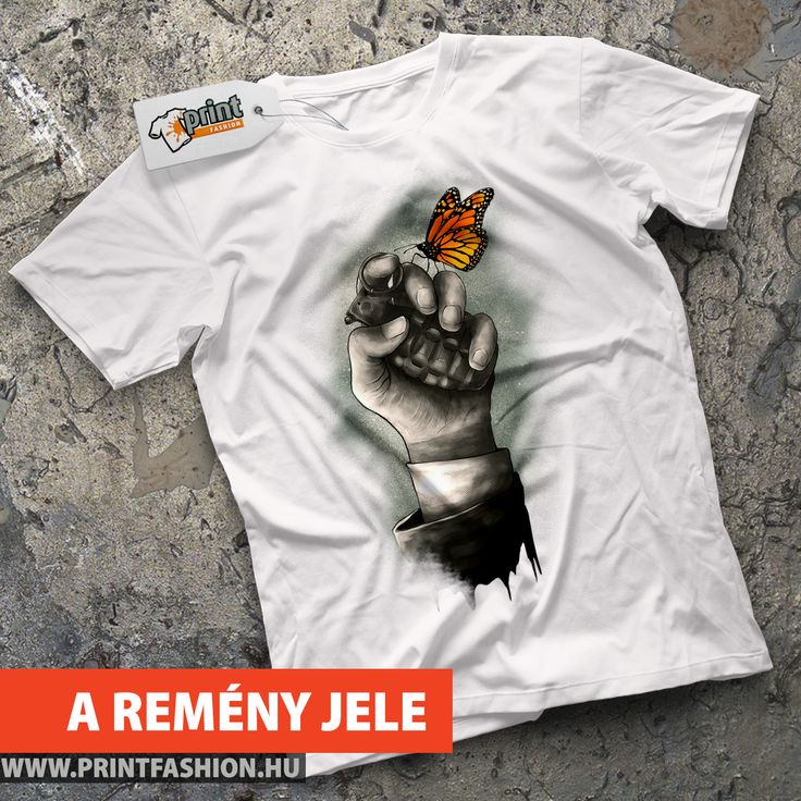 🦋 A REMÉNY JELE 🦋 ▶ Egyedi mintás póló, atléta, pulcsi, táska, párnahuzat! 🛒 WEBSHOP: https://printfashion.hu/mintak/reszletek/a-remeny-jele/ferfi-polo