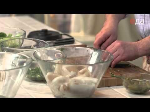 Салат из кальмаров двумя способами - YouTube