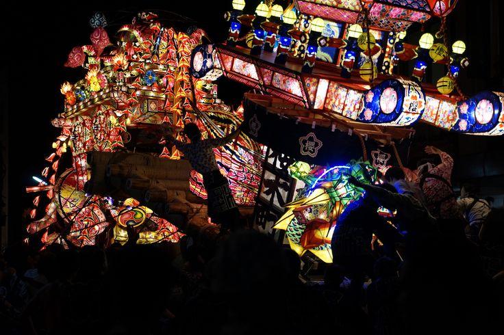 Tonami Yotaka festival. Toyama Prefecture Tonami. となみ夜高祭り。富山県砺波市。