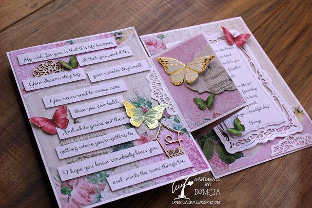 Handmade by Domcia kartka na urodziny, handmade cards parawan