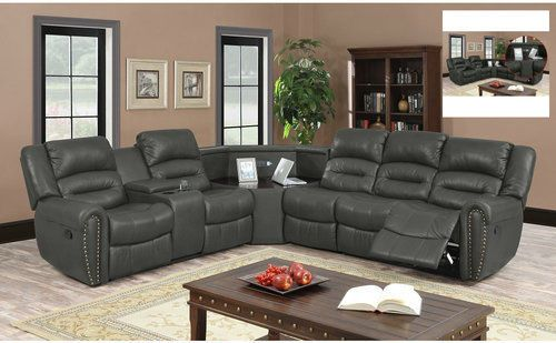 Home-Theater-Seating-Sectional-Sofa-Leather-Media-Room-Recliner-Corner-Furniture