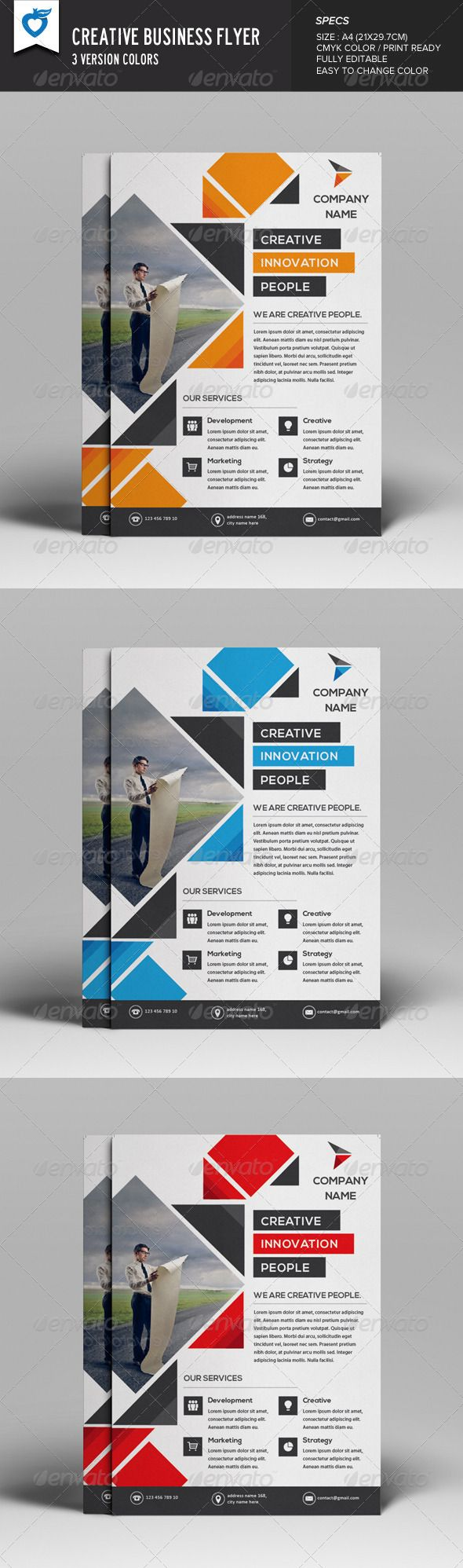 Creative Business Flyer PSD Template | Buy and Download: http://graphicriver.net/item/creative-business-flyer/8132559?WT.ac=category_thumb&WT.z_author=LeafLove&ref=ksioks