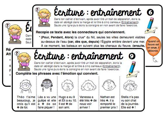ÉCRIT : les gammes d'écriture - Mélimélune