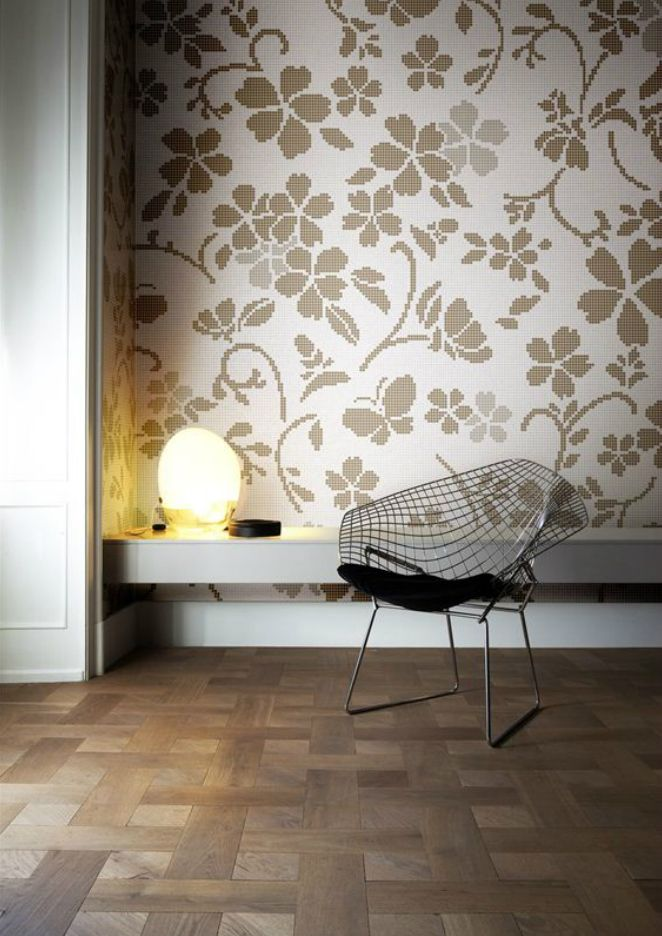 Hana Flower Light, Pattern In Bisazza Glass Mosaic, Tiles. Design By Nendo.